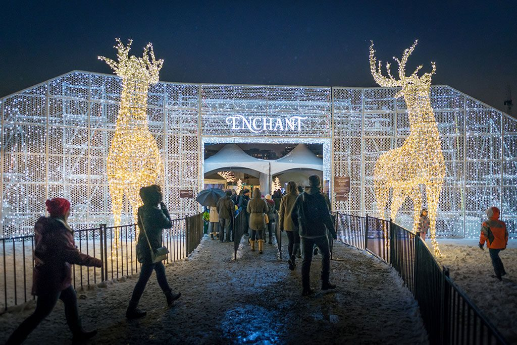 food truck at enchant the world s largest christmas light maze